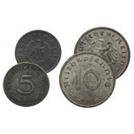 Kleingeld der Nachkriegeszeit Reichs-Pfennige