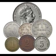 Kaiserreich-1908-Kleinmünzen-Satz
