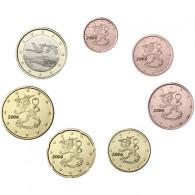 Finnland  1,88 Euro 2006 bfr. 1 Cent -1 Euro (7 Münzen) lose