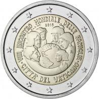 2 Euro Münze Vatikan Weltfamilientreffen in Philadelphia