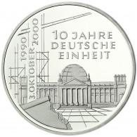 Deutschland 10 DM Silber 2000 Stgl. 10 Jahre Deutsche Einheit