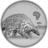 .Silbermünze aus Ghana 5 Cedis 2019 Antique Finish Pangolin/Schuppentier  bestellen