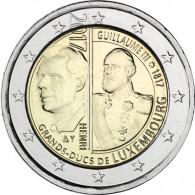 2 Euro Gedenkmünze  2017 Luxemburg 200. Geb.Großherzogs Wilhelm III