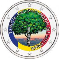 Andorra 2 Euro Gedenkmünze 2018 70. Jahre Deklaration der Menschenrechte in Farbe