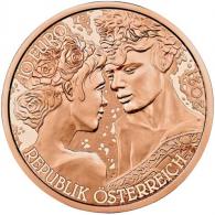 Österreich-10-Euro-Kupfer-Gedenkmünze-2021-Rose-I