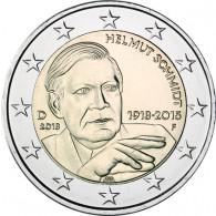 Deutschland 2 Euro Muenze  2018 Helmut Schmidt Mzz. F