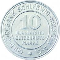 N 39 -  10- Hundertstel Gutschrifts-Marke 1923 der Provinz Schleswig-Holstein