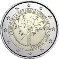 70. Jahre Deklaration der Menschenrechte aus Andorra 2 € Münze