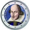 San Marino 2 Euro 2016   400. Todestag von William Shakespeare in  Farbe