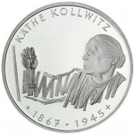 Deutschland 10 DM Silber 1992 Stgl. 125. Geburtstag von Käthe Kollwitz