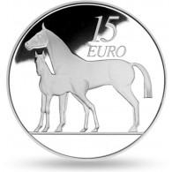 Irland 15 Euro 2010 Pferd Polierte Platte im Etui mit Zertifikat