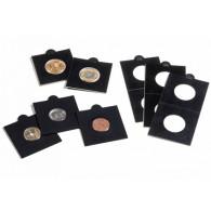 Muenzraehmchen Matrix  Schwarz  25er Pack selbstklebend Zubehoer 345691