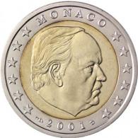 Monaco 2 Euro 2001 bfr. Fürst Rainier III. Grimaldi