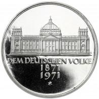 Deutschland 5 DM Silber 1971 PP 100. Jahre Reichsgründung in Münzkapsel