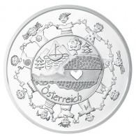 Österreich 10 Euro Silber 2016 PP Österreich aus Kinderhand:  Österreich