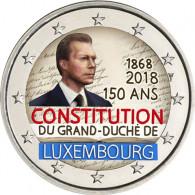 Luxemburg 2 Euro 2018 bfr. 150 Jahre Verfassung in Farbe