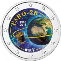 Belgien 2 Euro 2018 bfr. Forschungssatellit ESRO-2B in Farbe