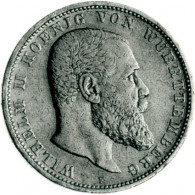 J.175 - Württemberg 3 Mark Silber 1908-1914  Wilhelm II.
