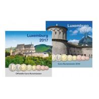 Luxemburg Euro Kursmünzensatz Sonderedition 3,88 Euro 2017 2018