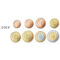 Portugal 1 Cent - 2 Euro 2009 bfr. lose im Münzstreifen