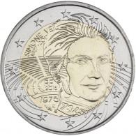 2 Euro Sondermünze Simone Veil aus Frankreich Gedenkmünzen Zubehör Münzkatalog bestellen