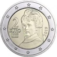 Österreich 2 Euro Kursmünze 2019  Berta von Suttner