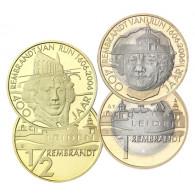 Niederlande 1/2  und 1 Euro 2006 Gedenkmünze Rembrandt /Leiden