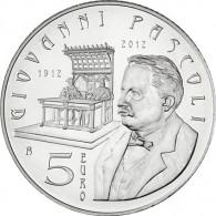5 Euro Muenzen aus San Marino 2012 Pascoli