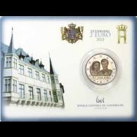 Luxemburg-2-Euro-2021-Hochzeitstag-von-Henri-und-Maria-Teresa-Fotoprägung-Coin-Card