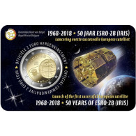 Belgien 2 Euro Gedenkmünze 2018 Stgl. Forschungssatellit ESRO-2B in Coincard