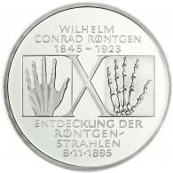 Deutschland 10 DM Silber 1995 Stgl. Wilhelm Korad Röntgen