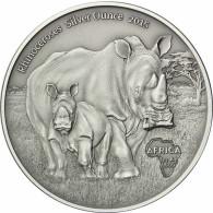 Kongo 1 Oz Silber 2015 Nashörner Münze