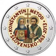 Slowakei 2 Euro 2013 bfr. Byzantinische Mission durch Kyrill FARBE