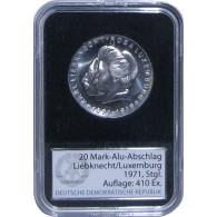 J.1533A - DDR 20 Mark 1971 Liebknecht Luxemburg Aluminium Abschlag