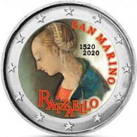 San Marino 2 Euro 2020 Rafaello in Farbe