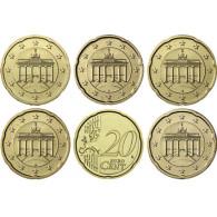 Deutschland 20 Euro-Cent 2016  Kursmünze mit Eichenzweig