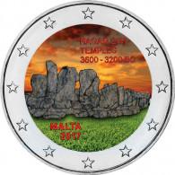 Malta 2 Euro Farbmünze 2017 bfr. Hagar Qim