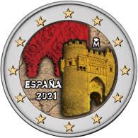Spanien-2-Euro-2021-bfr-Altstadt-von-Toledo---UNESCO-Serie-I-FARBE-2021T8327 - Spain_2021_2euro_Toledo_KM_KM