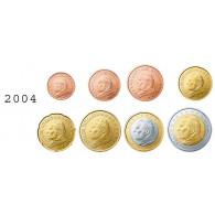 Vatikan 1 Cent - 2 Euro 2004 bfr. lose im Münzstreifen