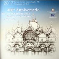 Italien 5,88 Euro Kursmünzensatz 2017 mit 2 Euro Gedenkmünzen Markus Dom Venedig