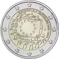 Deutschland 2 Euro 2015 bfr. 30 Jahre Europa Flagge Mzz. A