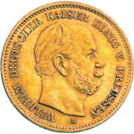 Historische Goldmünzen J. 244 - Preussen  5 Mark 1877-1878  Wilhelm I. Gold