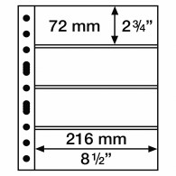 312682 -  GRANDE  Hüllen 4 S ( Schwarz ) 5er Pack Banknoten