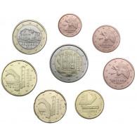 Andorra 1 Cent - 2 Euro 2014 bfr.  im Münzstreifen
