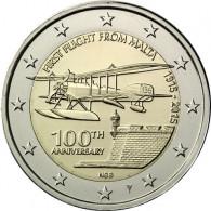 Malta 2 Euro 2015 Stgl.1.Flug mit Münzmeisterzeichen in Kapsel