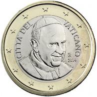 Vatikan Kursmünzen 1 Euro 2014 Stgl. Papst Franziksus