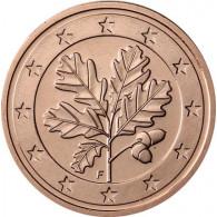Deutschland 2 Euro-Cent F Stuttgart 2016 Kursmünze mit Eichenzweig