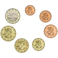 Finnland 1,88 Euro 2002 bfr. 1 Cent - 1 Euro (7 Münzen) lose