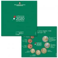 Italien 3,88 Euro-Kurssatz 2020 Stempelglanz im Folder 1 Cent bis 2 Euro (= 8 Münzen)