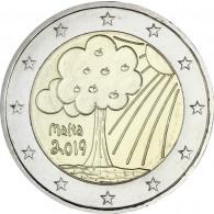 2019: Natur & Umwelt - 2-Euro-Gedenkmünzen aus Malta Natur und Umwelt  aus der Serie Von Kinden mit Solidarität kaufen bei Historia Hamburg
